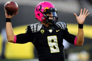 Oregon Ducks Pink Helmets