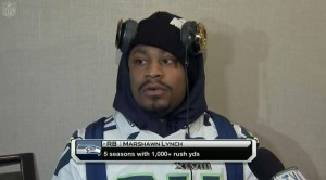 Marshawn Lynch: 'I'm just here so I won't get fined'