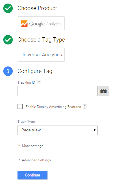 analytics tag in google tag manager