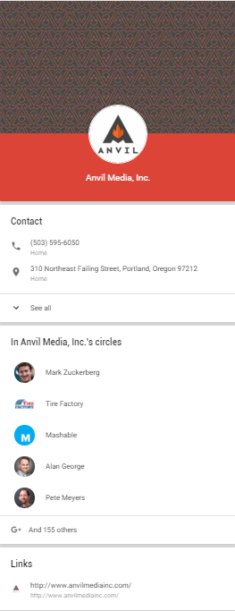 Google+ and Google My Business display for Local businesses