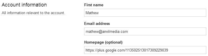 Add your Google+ URL as your homepage in your Shopify account