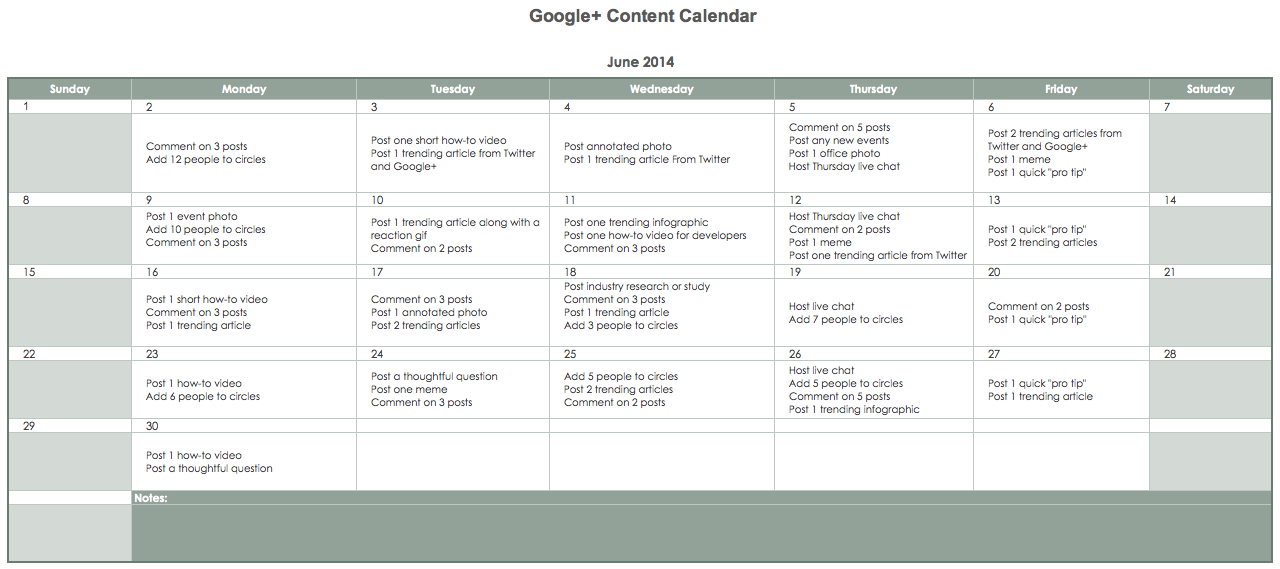 Simple Editorial Calendar Tools For Content Marketing Anvil Media - Pr calendar template