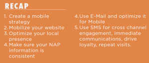 Action items for mobile marketing.