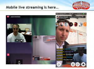 Mobile streaming apps Meerkat and Periscope.