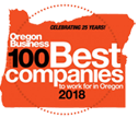 Oregon Businesses 100 Best Companies Logo