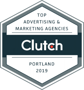 Clutch Top Advertising & Marketing Agency Badge, Portland 2019