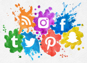 Colorful image of the logos for the top social media companies